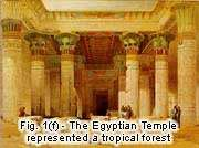 Fig. 1(f) - The Egyptian Temple represented a tropical forest