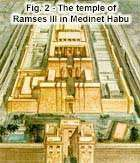 Fig. 2 - The temple of Ramses III in Medinet Habu