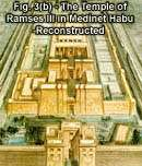 Fig. 3(b) - The Temple of Ramses III in Medinet Habu - Reconstructed