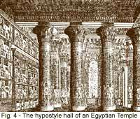 Fig. 4 - The hypostyle hall of an Egyptian temple